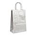 sacchetti sos con manici 80 gr/m2 26+14x32 cm argento kraft (250 unitÀ)