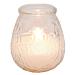 velas en vaso antitabaco 'monarch' 9,5x9,5 cm transparente parafina (24 unid.)