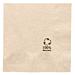 servilletas ecolabel 2 capas 18 g/m2 20x20 cm natural tissue reciclado (4800 unid.)