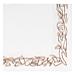 servilletas ecolabel 'double point - aristas' 18 g/m2 40x40 cm blanco tissue (1200 unid.)