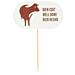 """steak marker """"bien hecho"""" 8 cm blanco madera (100 unid.)"""