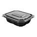 barquillas + tapas microondables 750 ml 19,4x16,4x5 cm negro pp (300 unid.)
