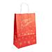 sacchetti sos con manici 'merry christmas' 80 gr/m2 26+14x32 cm rosso cellulosa (250 unitÀ)