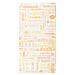 sachets croissants 'parole' 33 g/m2 19+8x35 cm blanc cellulose (250 unitÉ)