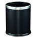 papelera habitaciones 'deluxe' 9 l Ø 22,5x27 cm negro acero (1 unid.)