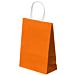 sacchetti sos con manici 80 g/m2 26+14x32 cm arancio cellulosa (250 unitÀ)