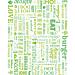 emballages pour hamburgers 'parole' 32 g/m2 28x34 cm vert parch.ingraissable (1000 unitÉ)