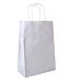 bolsas sos con asas 80 g/m2 20+10x29 cm blanco celulosa (250 unid.)