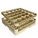rack lavavajillas de 25 compart. vasos 50x50x10 cm beige pp (1 unid.)