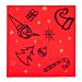 """servilletas """"christmas"""" 55 g/m2 40x40 cm rojo airlaid (700 unid.)"""
