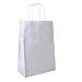bolsas sos con asas 90 g/m2 32+16x43 cm blanco celulosa (250 unid.)