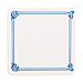posavasos azul 'maxim' 210 g/m2 8,5x8,5 cm blanco cartoncillo (6000 unid.)
