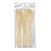 set tenedor, cuchillo, cuchara 'makan' 16 cm natural madera (100 unid.)