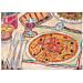 mantelines offset 'pizza & pasta' 70 g/m2 31x43 cm cuatricromÍa papel (2000 unid.)