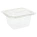 barquillas + tapas microondables 750 ml 19,4x16,4x5 cm transparente pp (300 unid.)