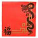 servilletas ecolabel 'double point - china' 18 g/m2 40x40 cm rojo tissue (1200 unid.)
