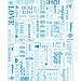 emballages pour hamburgers 'parole' 32 g/m2 28x34 cm bleu parch.ingraissable (1000 unitÉ)