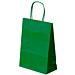 bolsas sos con asas 80 g/m2 20+10x29 cm verde kraft (250 unid.)