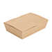 """scatole """"lunch box"""" copperchio 'thepack' 220 g/m2 20,5x14,6x5 cm naturale cartone ondulato a nano-micro (360 unitÀ)"""
