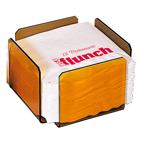 servilletero 17,5x17,5x11 cm rosa/ahumado metacrilato (2 unid.)