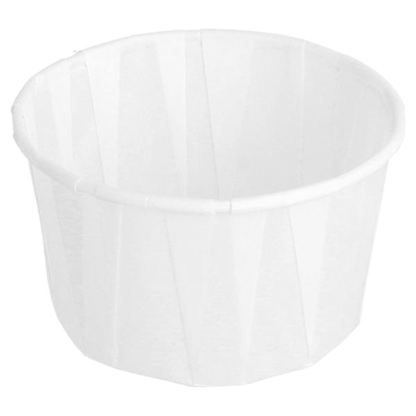 tarrinas papel plisado 100 ml Ø6,5x3,8 cm blanco perg. antigrasas (250 unid.)