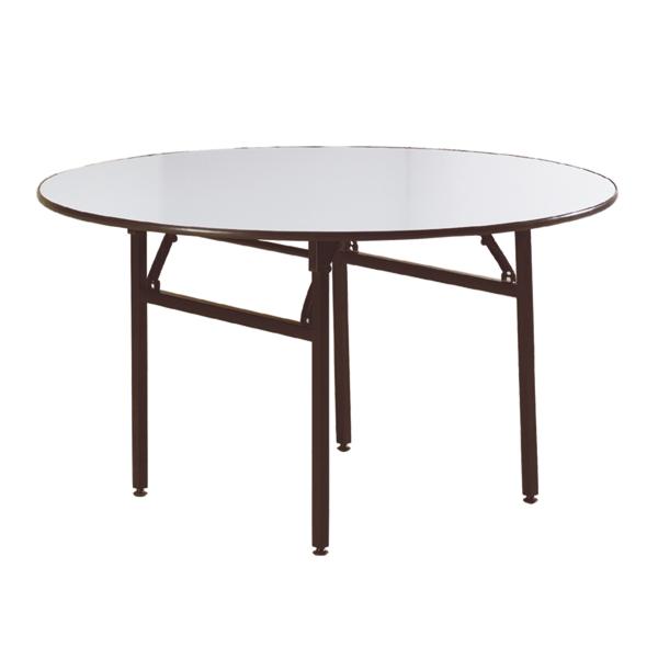mesas redondas plegables Ø 122x76 cm negro acero (2 unid.)
