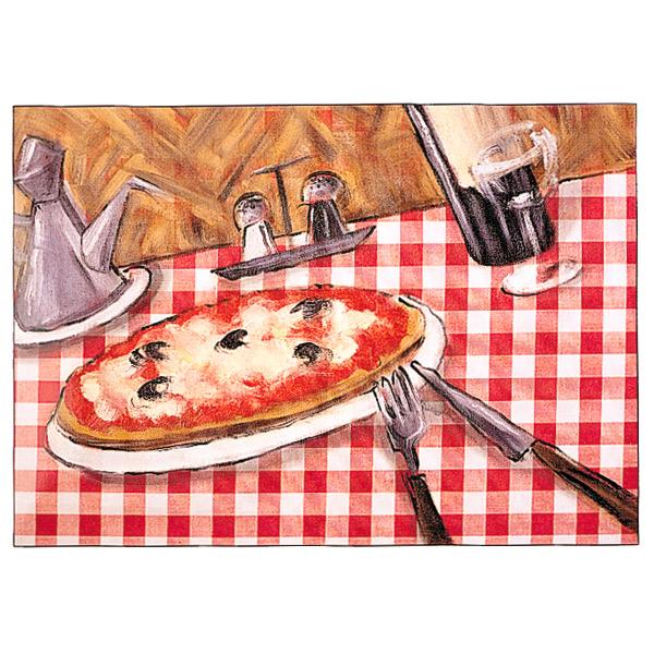 mantelines offset 'pizza' 70 g/m2 31x43 cm cuatricromÍa papel (2000 unid.)