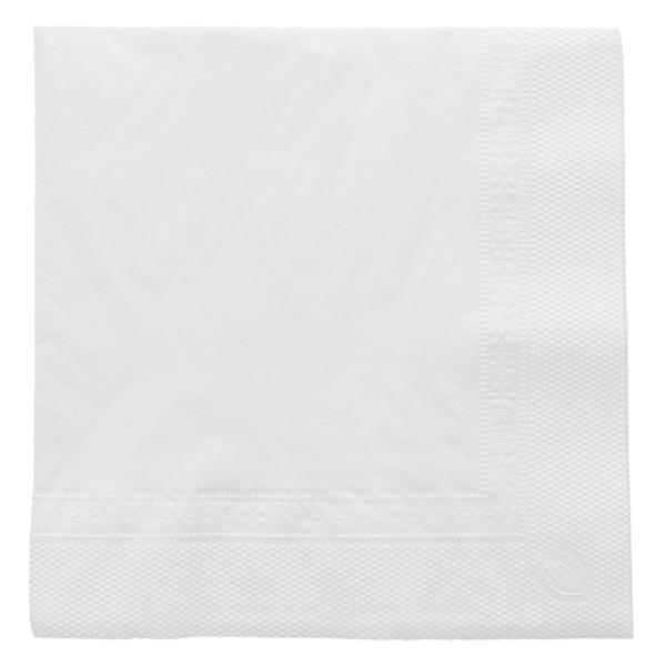 servilletas 2 capas 18 g/m2 25x25 cm blanco tissue (4800 unid.)