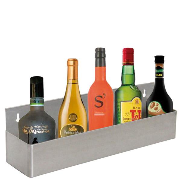 estanterÍa bar para 5 botellas 56x10,5x15,2 cm plateado inox (1 unid.)