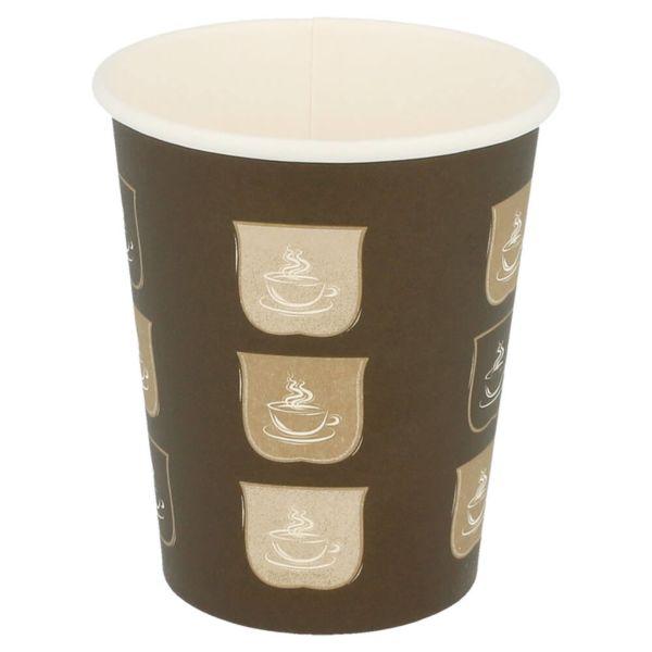 copos bebidas quentes 1 parede 240 ml 280 + 18 pe g/m2 Ø8/5,6x9,2 cm castanho cartolina (1000 unidade)