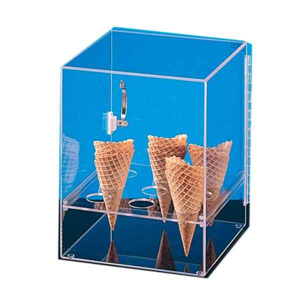 expositor para 9 conos de helado con puerta 31x31x38 cm transparente acrÍlico (1 unid.)