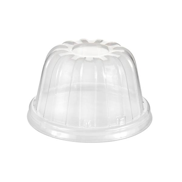 tapas altas para vasos de 360 ml 9 cm. transparente ps (1000 unid.)
