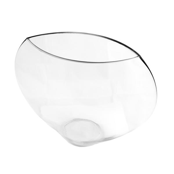 semiesfera decoraciÓn 30,5x11x25,5 cm transparente cristal (1 unid.)