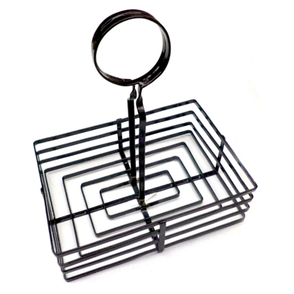 basket condiments 20,5x15x20 cm noir fer (1 unitÉ)