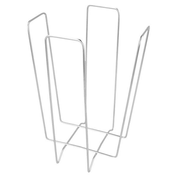 servilletero 11x11x18 cm plateado alambre (1 unid.)