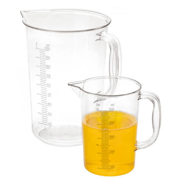 measuring jug 1/2 l Ø 8,5x12,5 cm clear polycarbonate (1 unit)