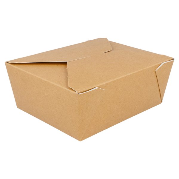 rectangular micro. boxes 1350 ml 300 gsm + 12 pp 15,3x12,1x6,4 cm brown cardboard (50 unit)