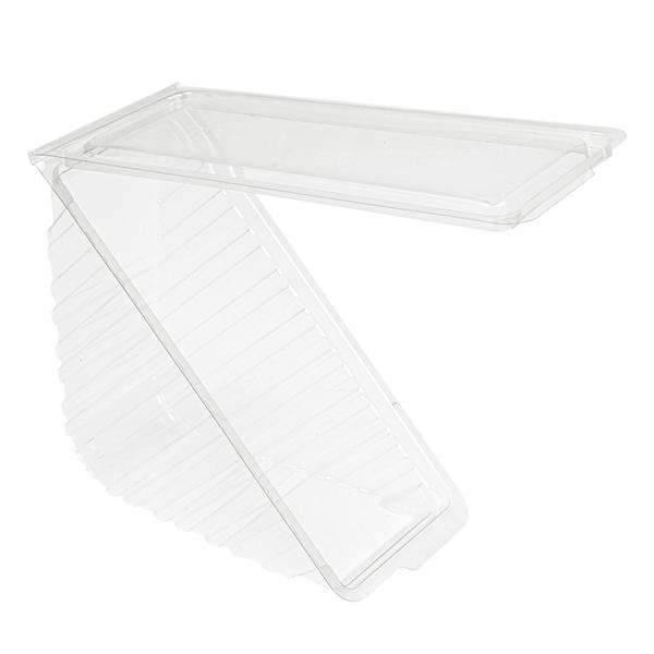envases sÁndwiches triangulares doble 11x11x6,5 cm transparente rpet (500 unid.)