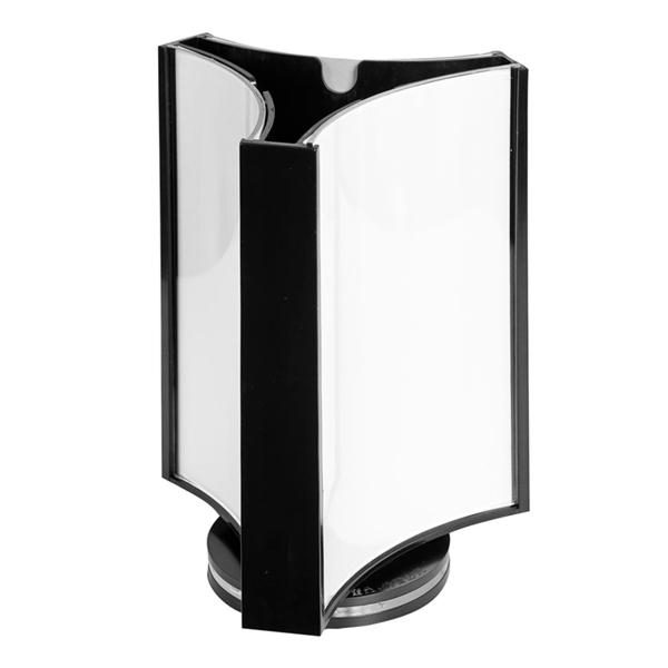porte-menus giratoire 3 faces 8x12 cm transparent ps (1 unitÉ)