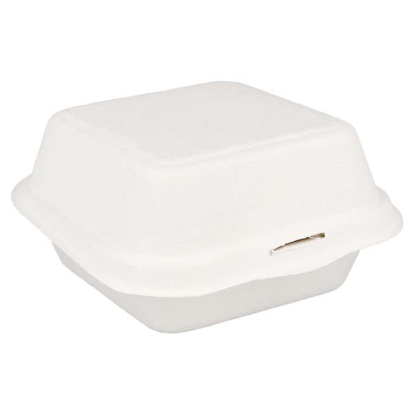 conchas hamburguesa 'bionic' 450 ml 15,2x15x8,4 cm blanco bagazo (600 unid.)