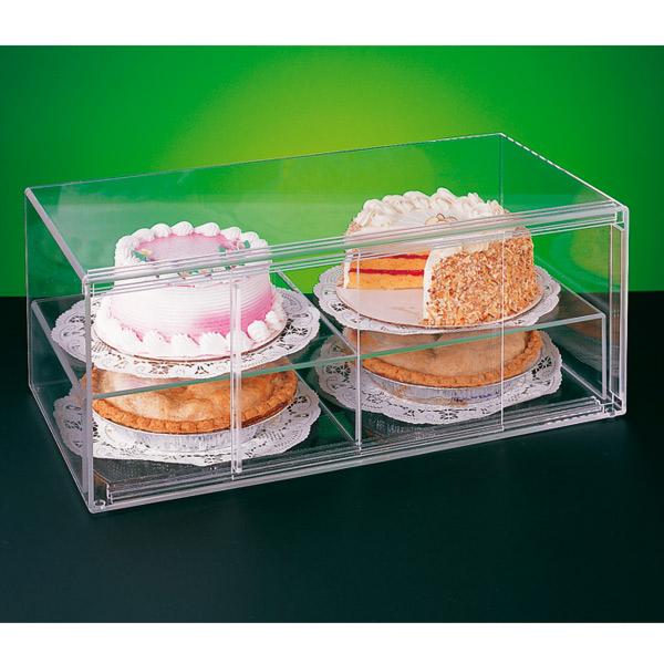 expositor pastelerÍa alargado 2 pisos 64x33x25,5 cm transparente acrÍlico (1 unid.)