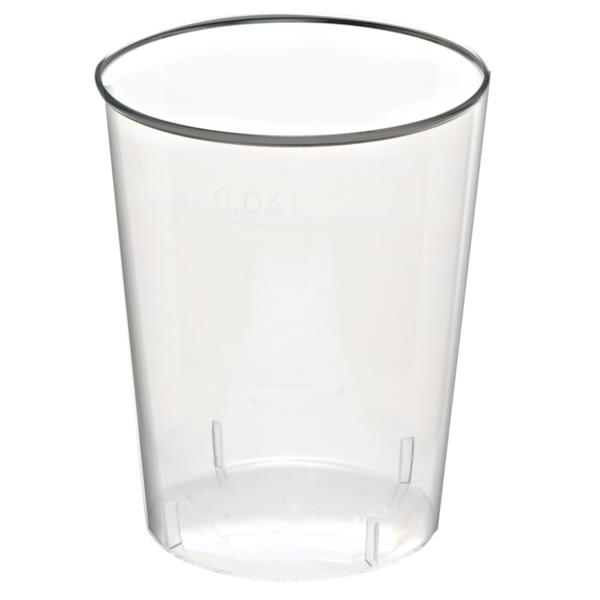 vasos inyectados chupito 20/30 ml Ø 4,2x4,2 cm transparente cristal ps (2000 unid.)