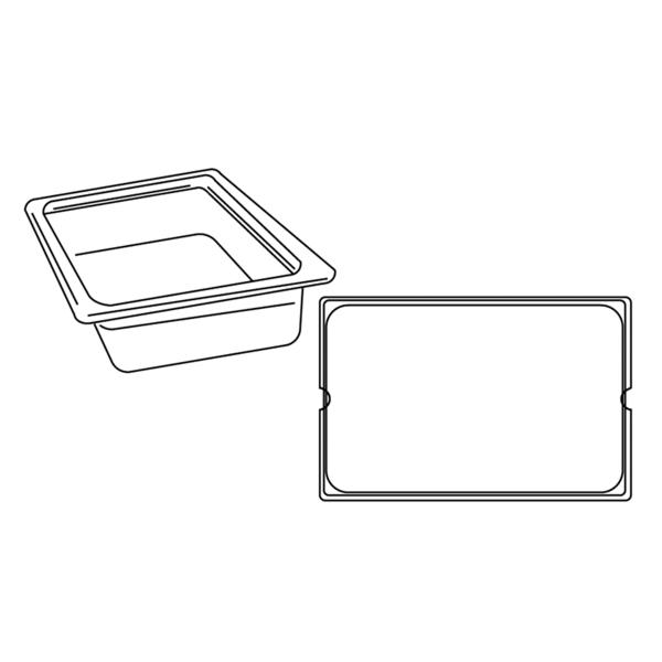 cubeta gastronorm 1/1 25 l 53x32,5x20 cm transparente policarbonato (1 unid.)