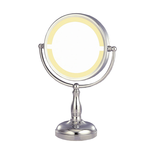 miroir de bains sur colonne (grossissant x3) Ø 19x35,5 cm argente metal (1 unitÉ)