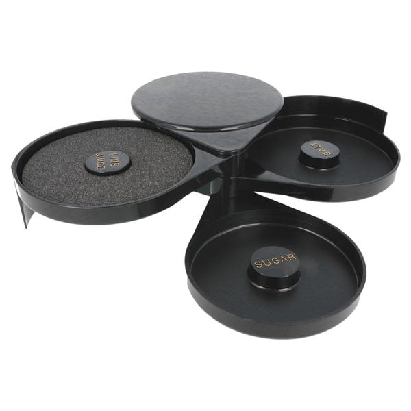 ribeteador de vasos azÚcar & sal 20x16x7,4 cm negro abs (1 unid.)