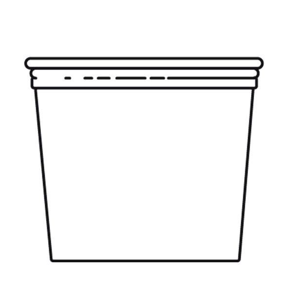 tarrinas + tapas 750 ml Ø11,7x10,5 cm transparente pet (250 unid.)