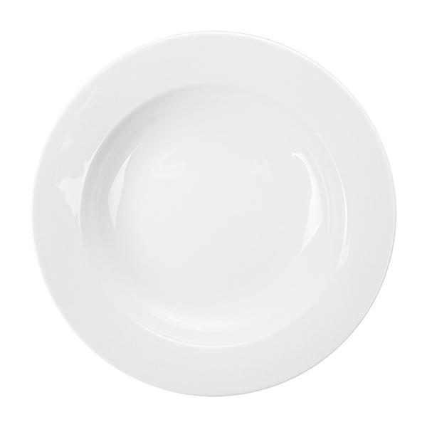 assiettes creuses Ø 23 cm blanc porcelaine (24 unitÉ)
