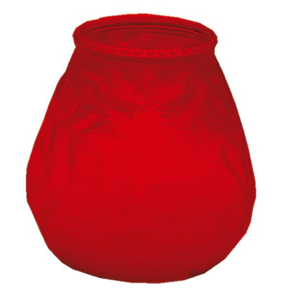 velas en vaso 'monarch - popular' 9,5x9,5 cm rojo parafina (24 unid.)