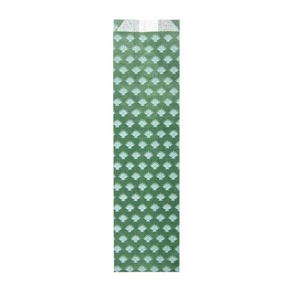 estuches para cubiertos 'park avenue' 32 g/m2 7+4x26 cm verde pradera celulosa (500 unid.)