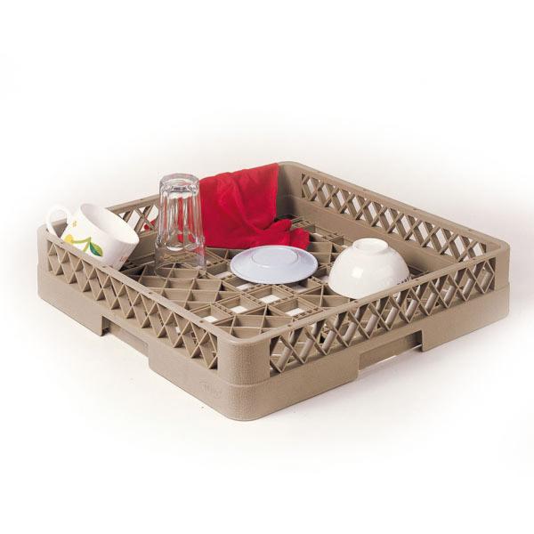 rack lavavajillas para objetos hondos 50x50x10 cm beige pp (1 unid.)